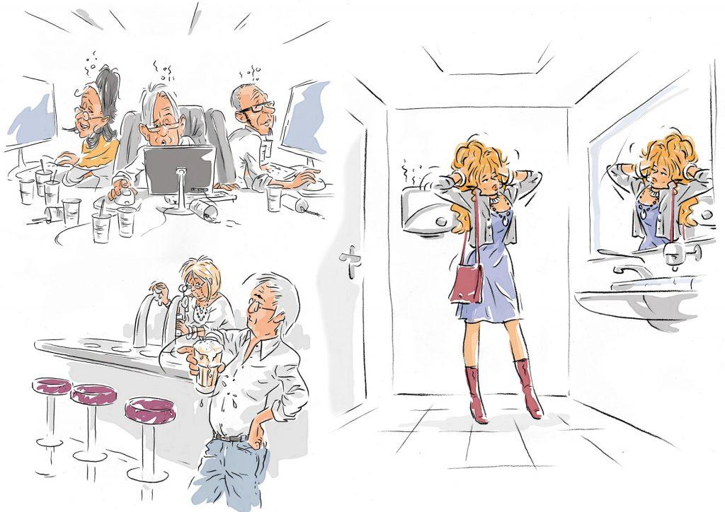 illustratie t.b.v. RTV Rijmond-postercampagne(B) i.o.v. AMD.nl