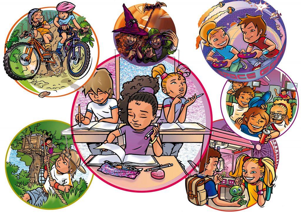 illustraties voor Wis&Waar8tig groep 5-6 i.o.v. Hoek&Havenaar
