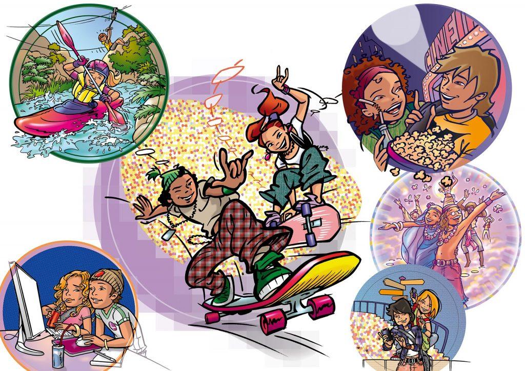 illustraties voor Wis&Waar8tig groep 7-8 i.o.v. Hoek&Havenaar