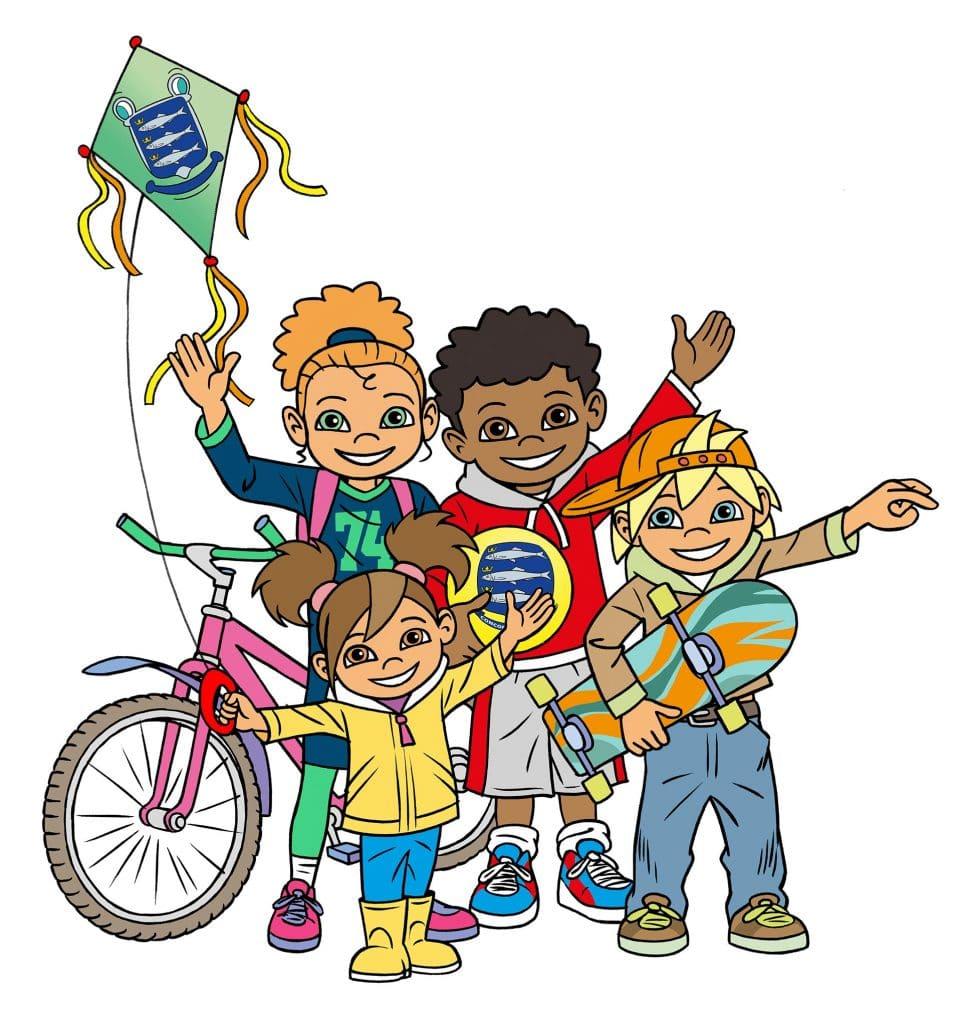 ontwerp en illustratie t.b.v. 'Kids team-logo' i.o.v. Bluelemon.nl