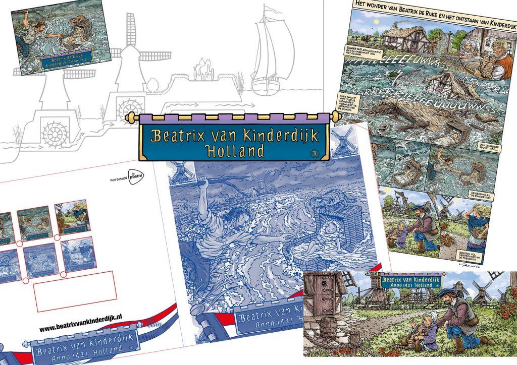 ontwerp en illustraties t.b.v. 'Beatrix de Rijke' i.o.v. Jaap Kooimans