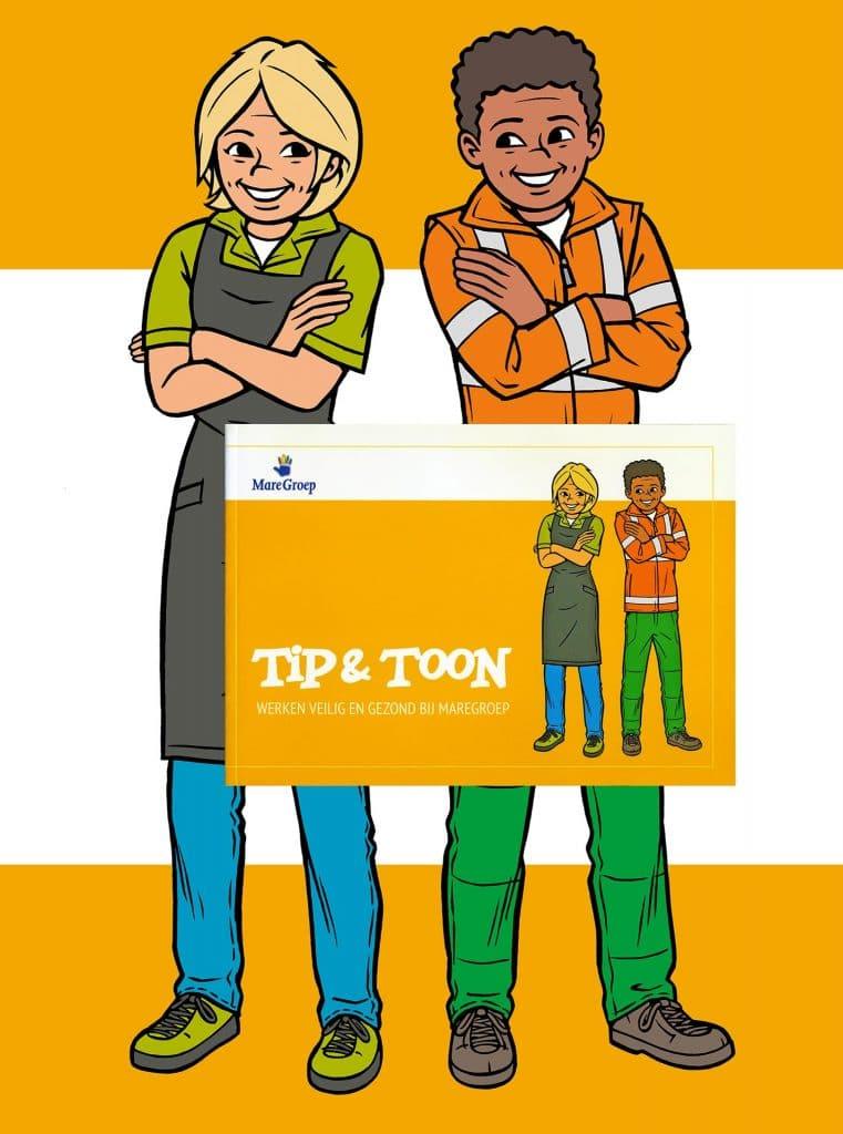 ontwerp en illustraties t.b.v.'Tip & Toon' i.o.v. Mare Groep