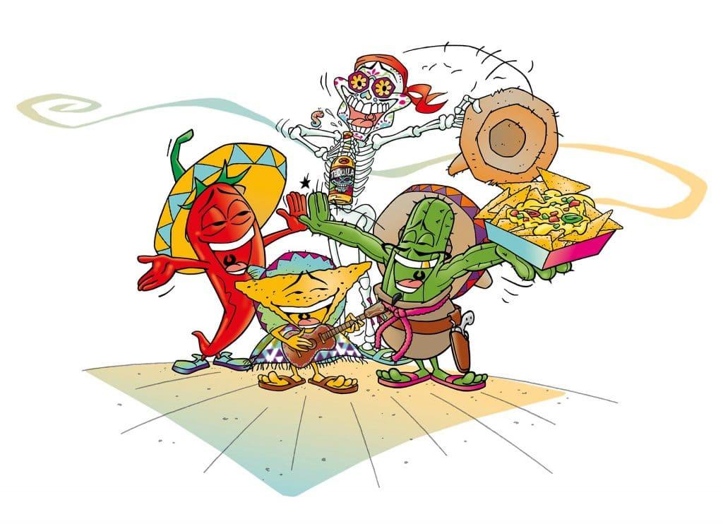 ontwerpen Nacho karakters i.o.v. Studiohero.nl