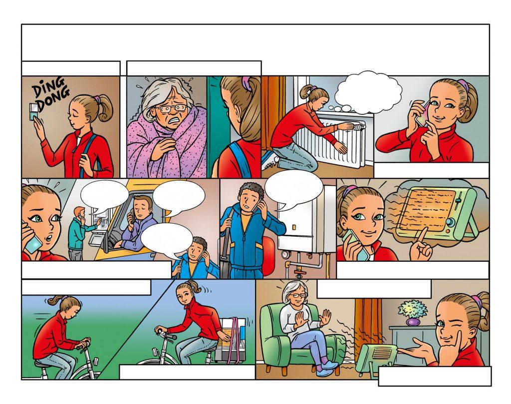 strip Eva-'Thuishulp' i.o.v. Facilicom.nl