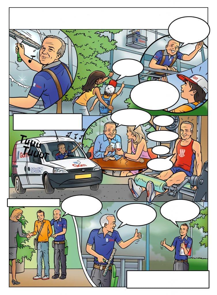 strip Eva-'Werkgeluk' i.o.v. Facilicom.nl