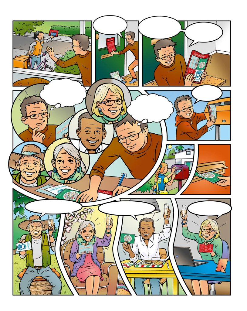 strip Eva-'eenzaamheid' i.o.v. Facilicom.nl