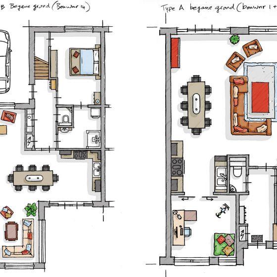 Interieur plattegronden i.o.v. Concepticus.nl