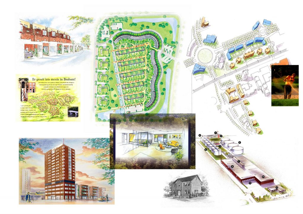 artist impressions t.b.v. bouwprojecten