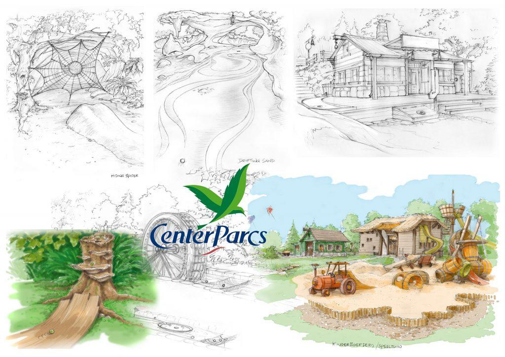 concept visuals t.b.v. 'Center Parcs' 2