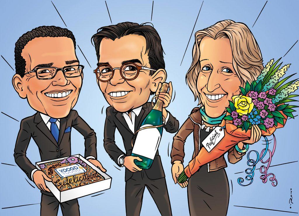illustratie karakaturen voor 'Voogd & Voogd'