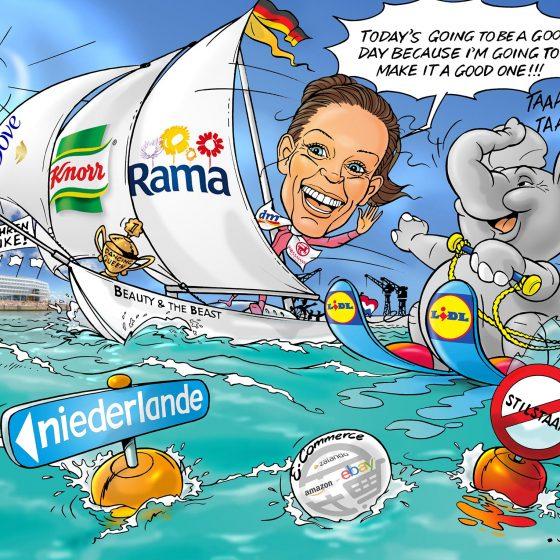 illustratie karikatuur 'Eveline' i.o.v. Newton21.nl