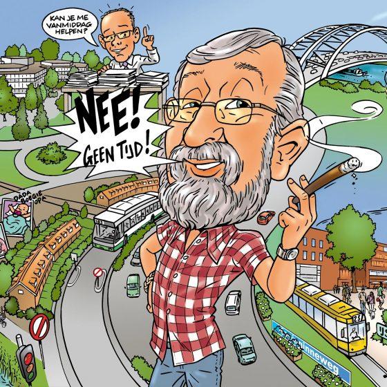 illustratie karikatuur 'Joop' i.o.v. Timereclame.nl