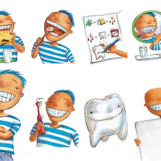illustraties kindertandarts
