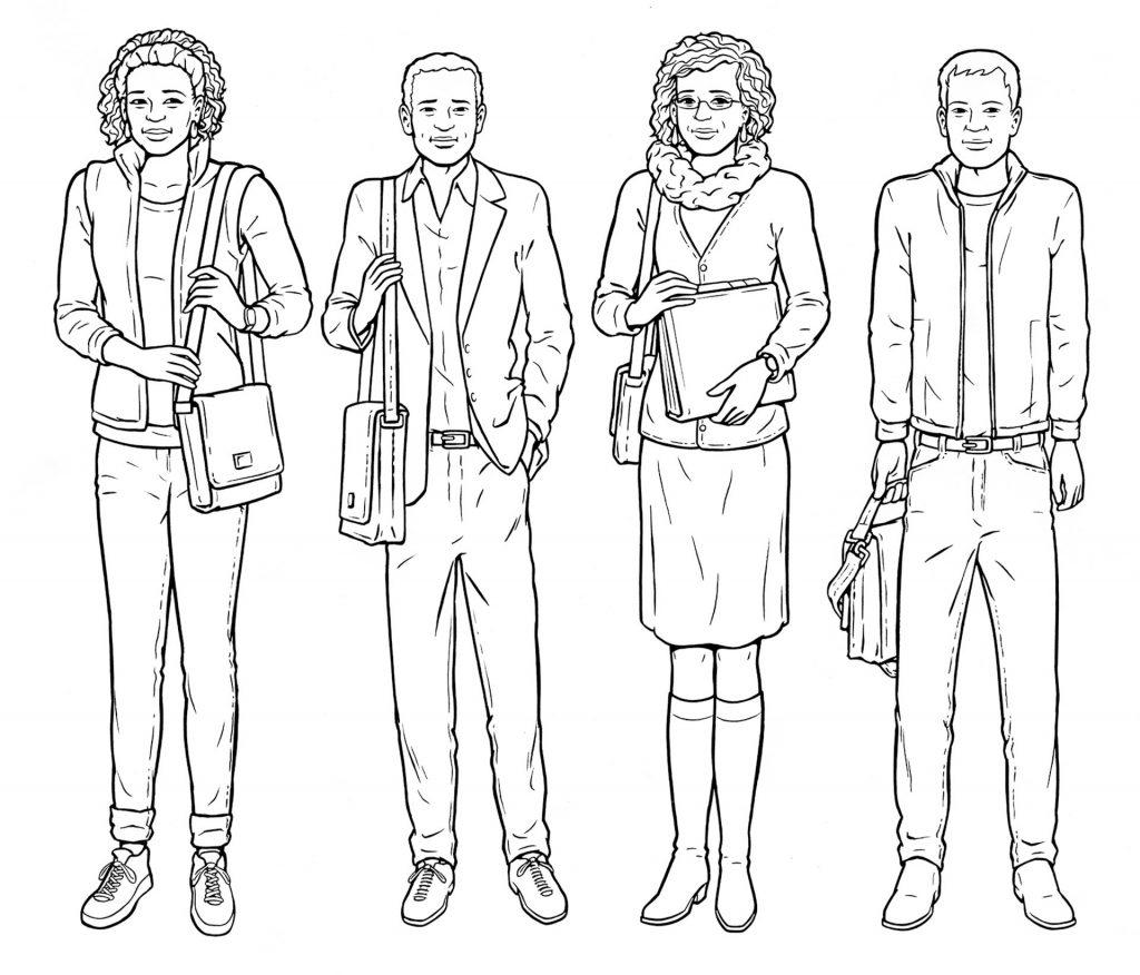 illustraties persona's zorgprofessionals i.o.v. Lexenzo.nl