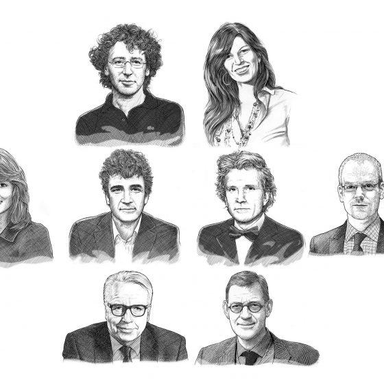 illustraties portretten voor 'VHOK' i.o.v. Tekenteam.nl