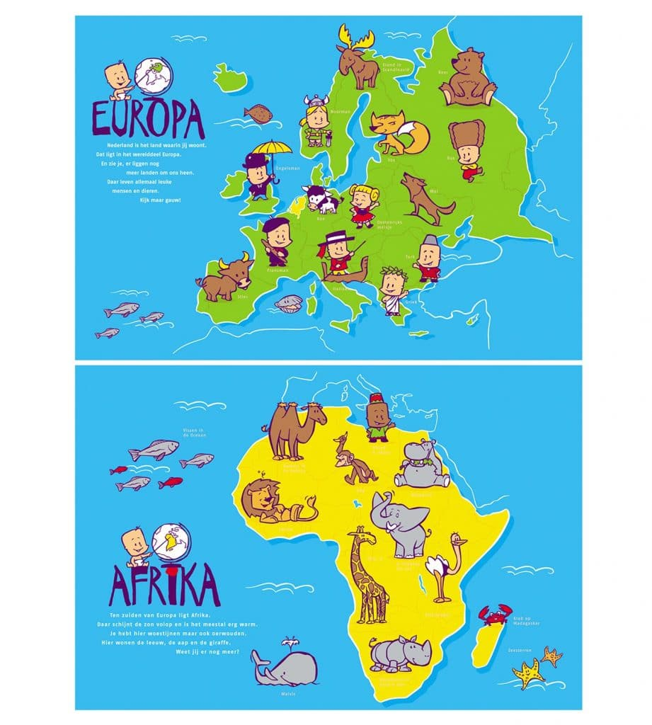 illustraties t.b.v. 'Kinderatlas'(Nutricia)(B)