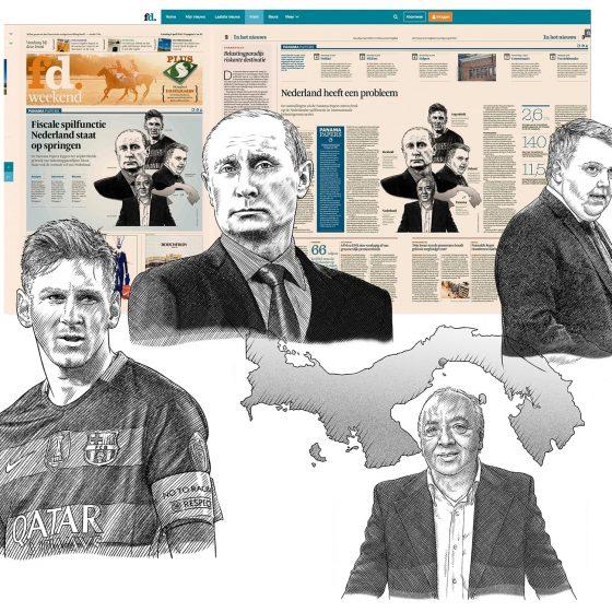 illustraties t.b.v. 'Panama Papers' (FD) i.o.v. Tekenteam.nl