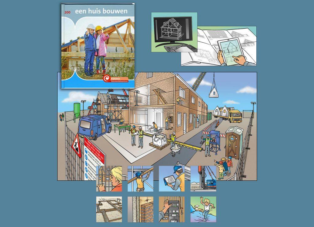 illustraties t.b.v. boek 'een huis bouwen' i.o.v. Documentatiecentrum.nl