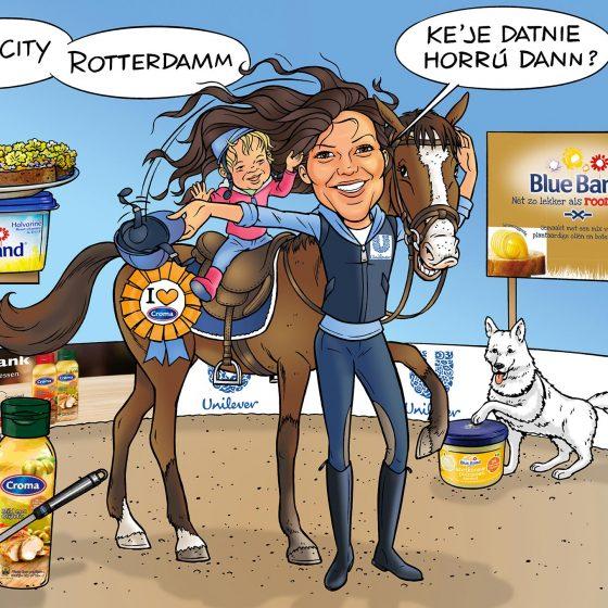 karikatuur 'Janina' i.o.v. Newton21.nl