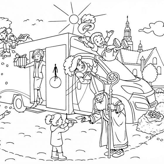 kleurplaat Sint & Piet RABO bank i.o.v. Di Piu
