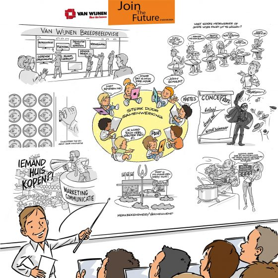 locatie illustraties t.b.v. 'poster Van Wijnen' i.o.v. Tekenteam.nl