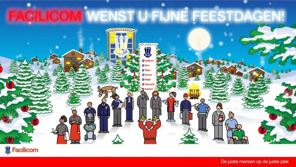 ontwerp Facilicom kerst-nieuwjaar-animatie