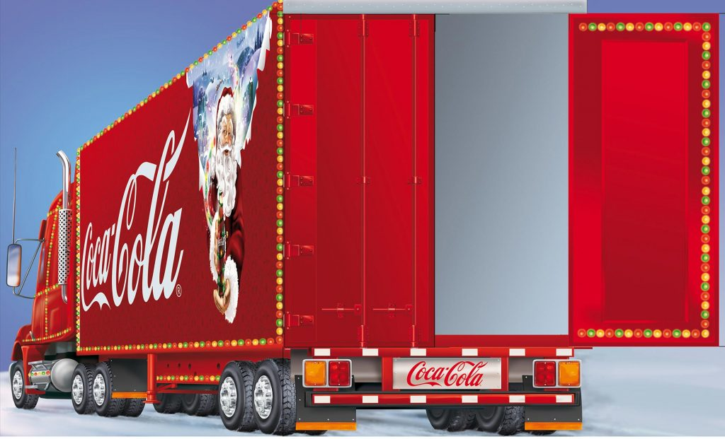 ontwerp en illustratie t.b.v. 'Coca-Cola kersttruck display i.o.v. Force 451