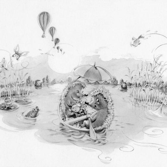 ontwerp en illustratie t.b.v. 'geboortekaartje'