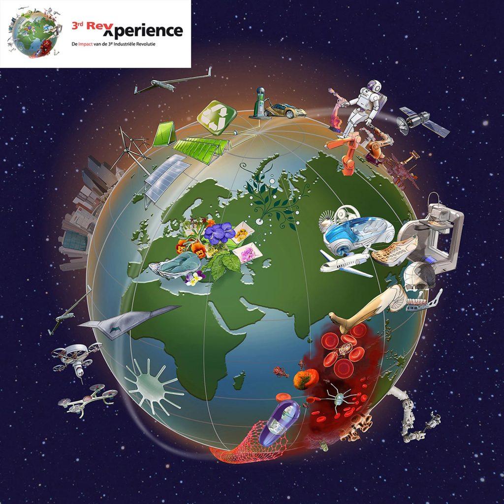 ontwerp en illustraties t.b.v. '3rd REXperience' i.o.v. AMD.nl