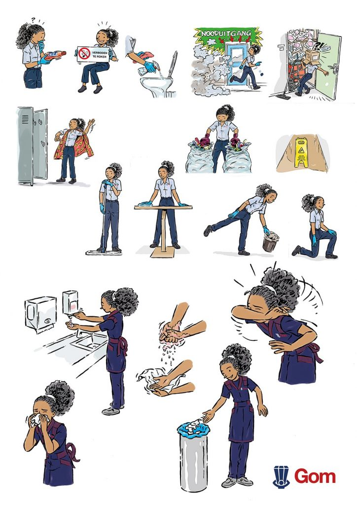 ontwerp en illustraties t.b.v. 'GOM-Zorg-Veiligheid'(Claire) i.o.v. Facilicom.nl kopie