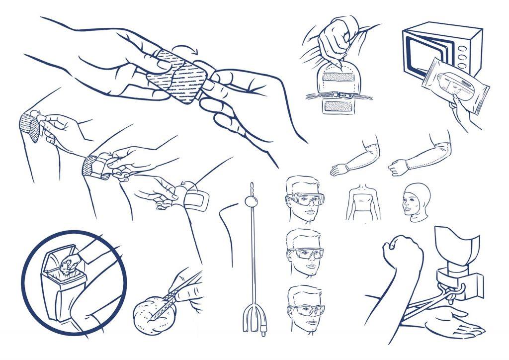 ontwerp en illustraties t.b.v. 'Medeco' i.o.v. Trend reclame