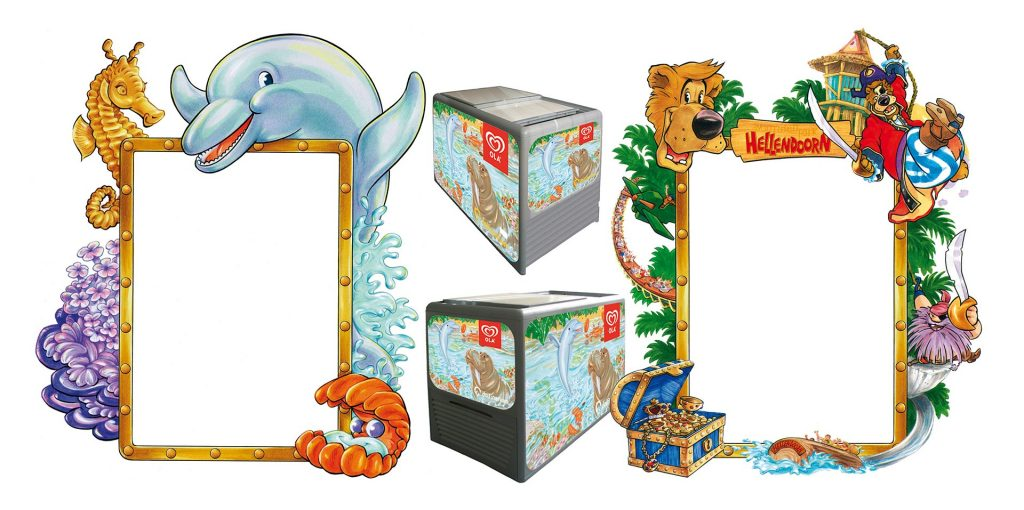 ontwerp en illustraties t.b.v. 'OLA-ijs'