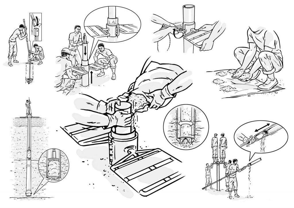 ontwerp en illustraties t.b.v. Practica-'Auger' i.o.v. Tekenteam.nl