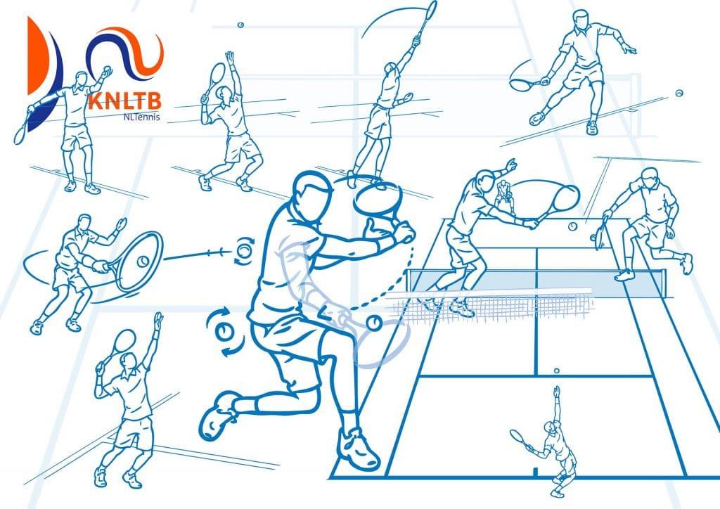 ontwerp en illustraties t.b.v. instructieboekje 'KNLTB' i.o.v. csomc.nl