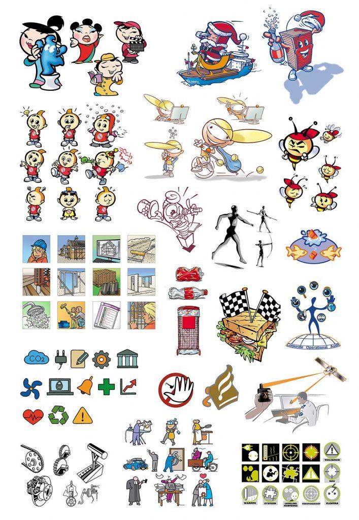 ontwerp en illustraties voor infographic-projecten