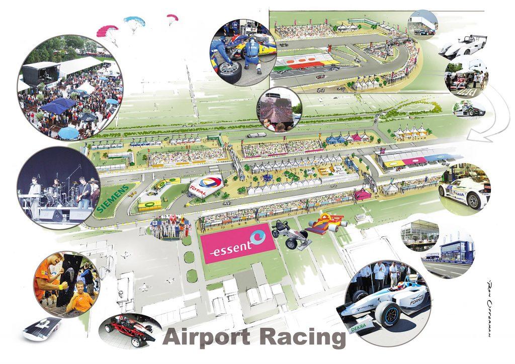 ontwerp en visual t.b.v. 'concept Airport Racing' i.o.v. Rotterdam Racing