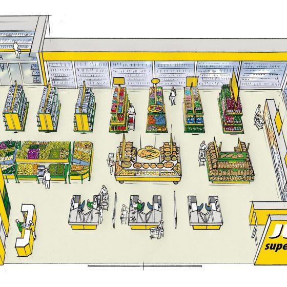 ontwerp en visual t.b.v. 'indeling supermarkt Jumbo' i.o.v. Finally communication
