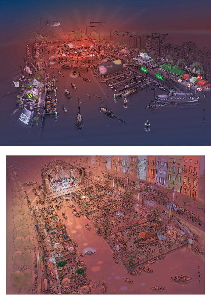 ontwerp en visuals t.b.v. 'concept havenconcert'
