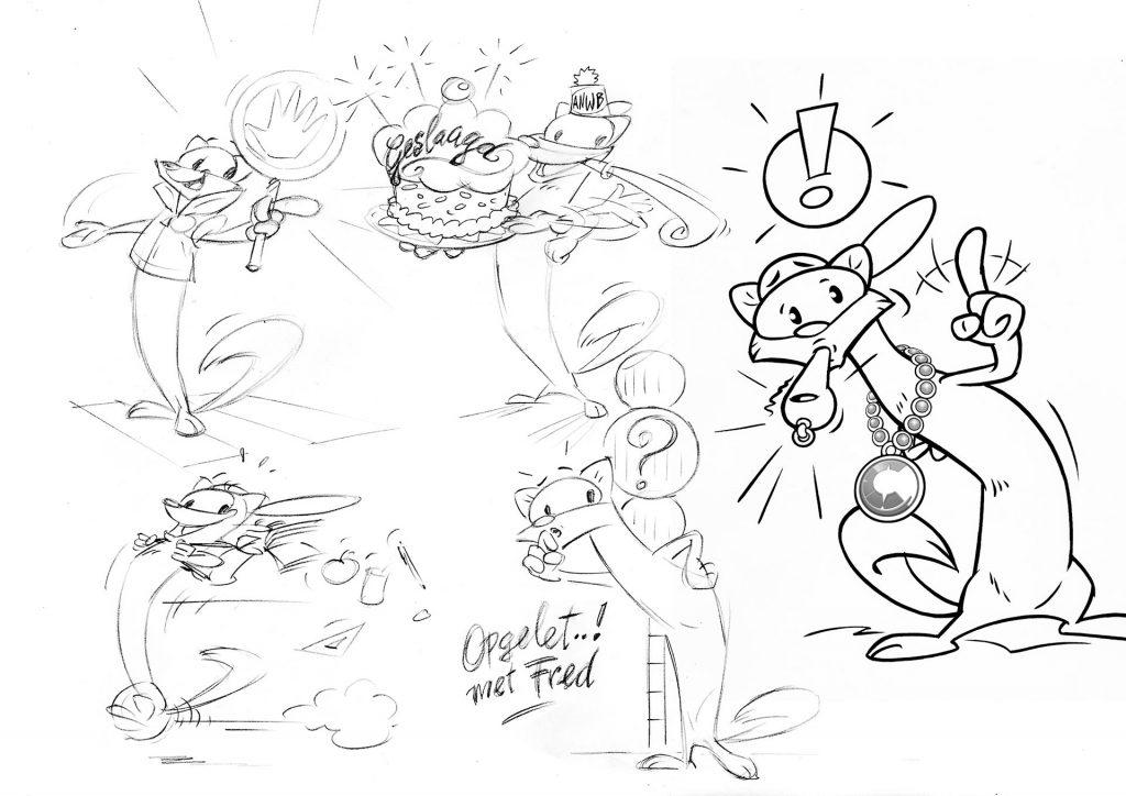 ontwerp karakter 'Fred'