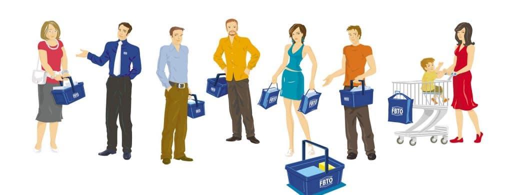 ontwerp karakters FBTO