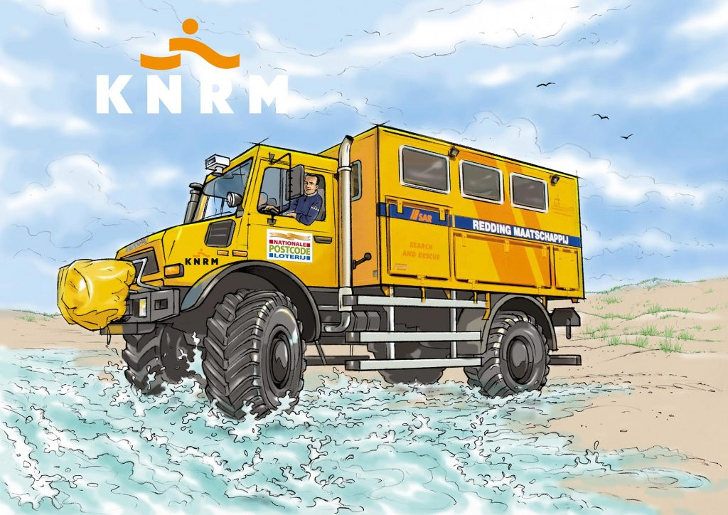 visual KNRM-Nat.Postcodeloterij i.o.v. Tekenteam.nl