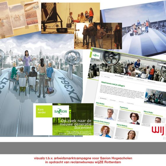 visuals t.b.v. 'campagne Saxion'1 i.o.v. wijze.nl