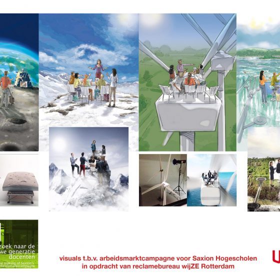 visuals t.b.v. 'campagne Saxion'2 i.o.v. wijze.nl